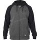 Black/Charcoal Legacy Sherpa Zip Hoody