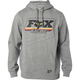 Heather Gray/Black Throwback Pullover Hoody