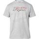 Light Heather Gray Duel Head SS Basic T-Shirt