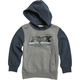 Youth Heather Graphite Throwback Pullover Hoody