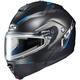 Semi-Flat Black/Blue IS-Max 2 Dova MC-2SF Snow Helmet w/Electric Shield
