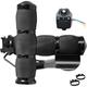 Black Anodized Air Cushioned Heated Grips w/Throttle Boss - MT-AIR-90-A-B-H