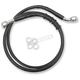 Front Extended Length Black Vinyl Brake Line w/o ABS +10 - 1741-5395