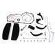 Wyatt Gatling Driver Footboard Kit w/Black Brackets - 22-0453