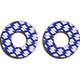 Blue/White Moto Grip Donuts - 22-67400