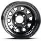 Black Front or Rear 14x7 Steel Wheel - 1425544014B
