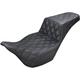 Black Lattice Stitch Step-Up Seat - 808-07B-175