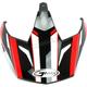 Black/Red Visor for GM11S Vertical Helmets - G011081