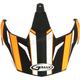 Flat Black/Hi-Vis Orange Visor for GM11S Helmets - G011085