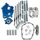 Chain Drive 465C Cam Chest Kit w/Black Pushrod Tubes for Oil Cooled Models - 310-1011