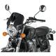 Dark Smoke Retrovision Windscreen w/Black Semifaring - 7593F