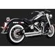 Chrome Big Shots Staggered Exhaust System - 17941