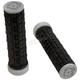 Black/Gray Enduro Dual Compound ATV Grips - 2500-0207