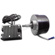 Black 17 AMP 12 Volt Alternator Generator Conversion Kit - 32-0371