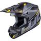 Semi-Flat Gray/Black/Yellow CS-MX 2 Madax MC-53SF Helmet