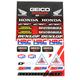 Geico Honda HRC Decal Sheet - 40-10-115
