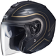Semi-Flat Black/Gold/Titanium IS-33 Apus MC-9SR Helmet