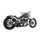Black 2-into-1 American Outlaw Exhaust System - HD00834