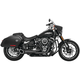 Black/Black 2-Into-1 Turnout Exhaust System - HD00810