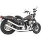 Chrome Upsweep Exhaust w/Star End Cap - HD00758