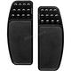 Black Original Drilled & Knurled Extended Driver Floorboards - FBF01-KDOB