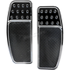 Night Series Original Drilled & Knurled Extended Driver Floorboards - FBF01-KDON