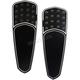 Night Series Teardrop Drilled & Knurled Extended Driver Floorboards - FBF01-KDTN