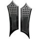 Black Instigator Drilled & Knurled Extended Driver Floorboards - FBF01-KDIB
