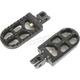 Black Long Serrated Driver Footpegs - 08-56-6B
