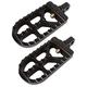 Black Long Serrated Passenger Footpegs - 08-56-7B