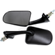 Black Polaris Mirrors - 12-165-02