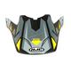 Semi-Flat Gray/Black/Yellow Visor for CS-MX II Madax MC-53SF Helme - 332-539