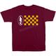 Men's Burgundy Go Getter T-Shirt