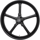 Black 21 in. x 3.25 in. Rockstar Forged Aluminum Front Wheel for ABS - 2502-ROC-213-B