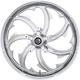 Chrome 23 x 3.75 in.Fury Forged Aluminum Front Wheel For Non-ABS - 1503-FRY-233-CH