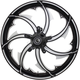 Contrast Cut 23 x 3.25 in.Fury Forged Aluminum Front Wheel for ABS - 2502-FRY-233-BC