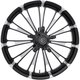 Front Contrast Cut 23 in. x 3.75 in. Forged Fuel Aluminum Wheel for Non-ABS - 1503-FUL-233-BC