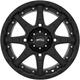 Black Roll'N 105 15x7 Cast Aluminum Wheel - 5707-046AS