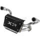 Black/Silver Exhaust System - 7523