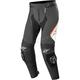 Black/White/Fluorescent Red Missile v2 Leather Pants