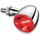 Chrome Rear Run/Turn/Brake Bullet 1000 RB Light w/Red Lens - 2862
