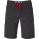 Black/Red Overhead Boardshorts