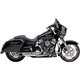Chrome Turnout 2-Into-1 Exhaust System w/Black Tip - 6270
