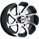 Machined/Black Twister Directional 14x7 Left Wheel - 1422328536BL