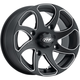 Black Milled Twister Directional 14x7 Right Wheel - 1422326727BR