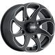 Black Milled Twister Directional 14x7 Left Wheel - 1422328727BL