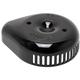Gloss Black Stealth Slasher Teardrop Air Cleaner Cover - 170-0533