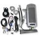 Chrome Side Mount Dual Fan Assisted Oil Cooler Kit - SMSP-1C