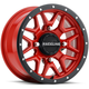 Black/Red Raceline A94 Krank Simulated Beadlock 14x7 Wheel - A94R-47037+10