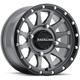 Black/Gray Raceline A95 Trophy Simulated Beadlock 14x7 Wheel - A95SG-47056+10